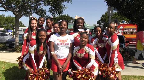 CSUDH Cheerleading Squad at the YMCA Healthy Kids Day 2013