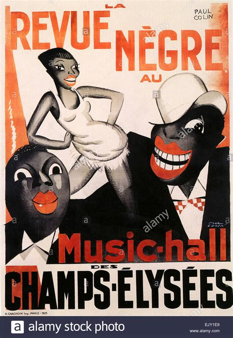 LA REVUE NEGRE Poster for the music-hall on the Champs