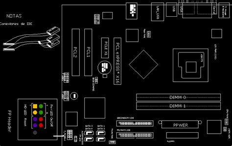 Intel motherboard in AutoCAD | Download CAD free (21