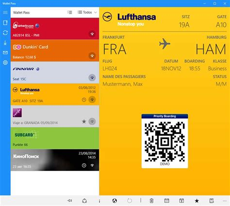 Manage Passbook Files With Wallet Pass On Windows 10