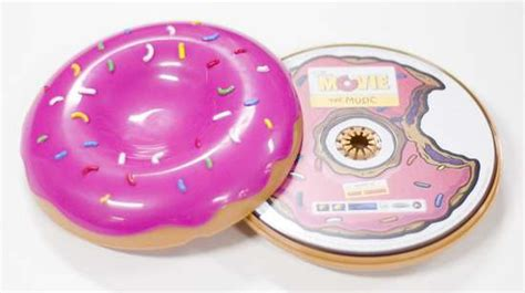 Donut Cd Cases: Mmmm, The Simpson's Movie Soundtrack Packaging