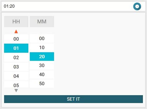 Responsive Hour & Minute Picker Plugin For jQuery - hr