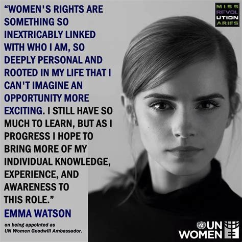Emma Watson on being appointed as UN Women Goodwill