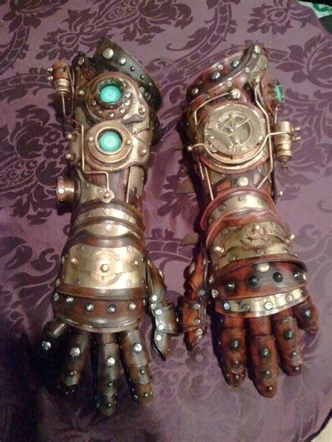 Steampunk gloves - similar to the Seid Gauntlets that