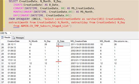 Date format incompatibility in linked server between SQL