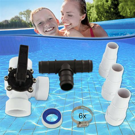 Miganeo® Bypass Set Adapter Pool Schwimmbad Heizung