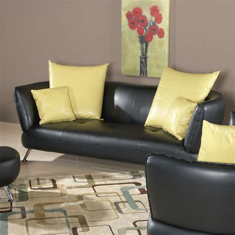 decorating ideas living room black leather couch