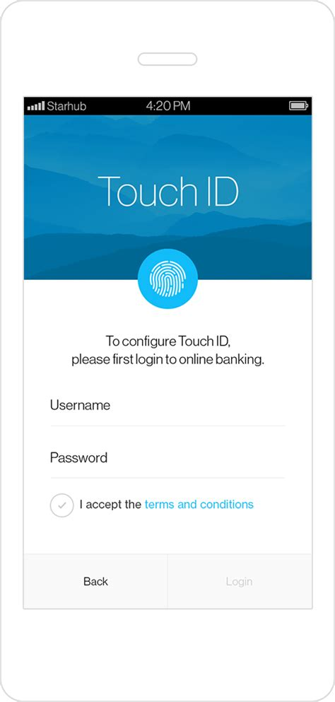 Touch Login Service - Standard Chartered Singapore