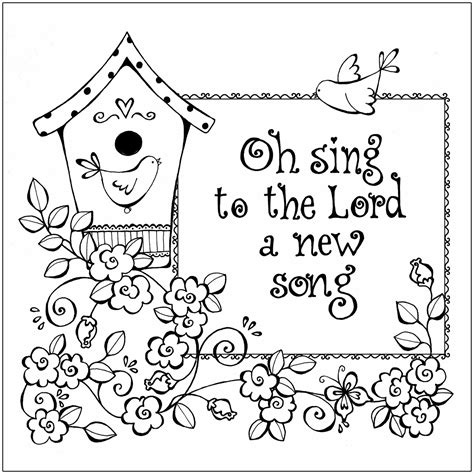 Oh sing to the Lord a new song ~ Dibujos Cristianos Para