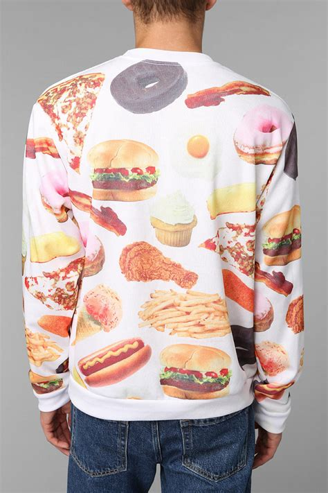 Urban Outfitters Rook Fast Food Pullover Sweatshirt in