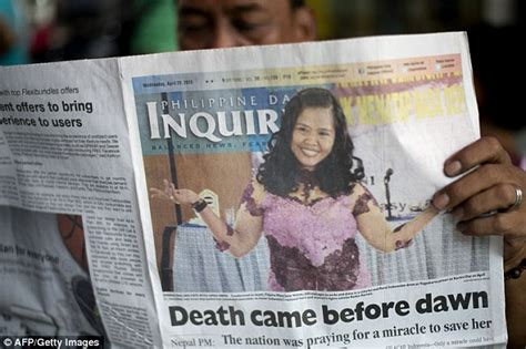 Philippine newspapers apologise for Mary Jane Veloso death