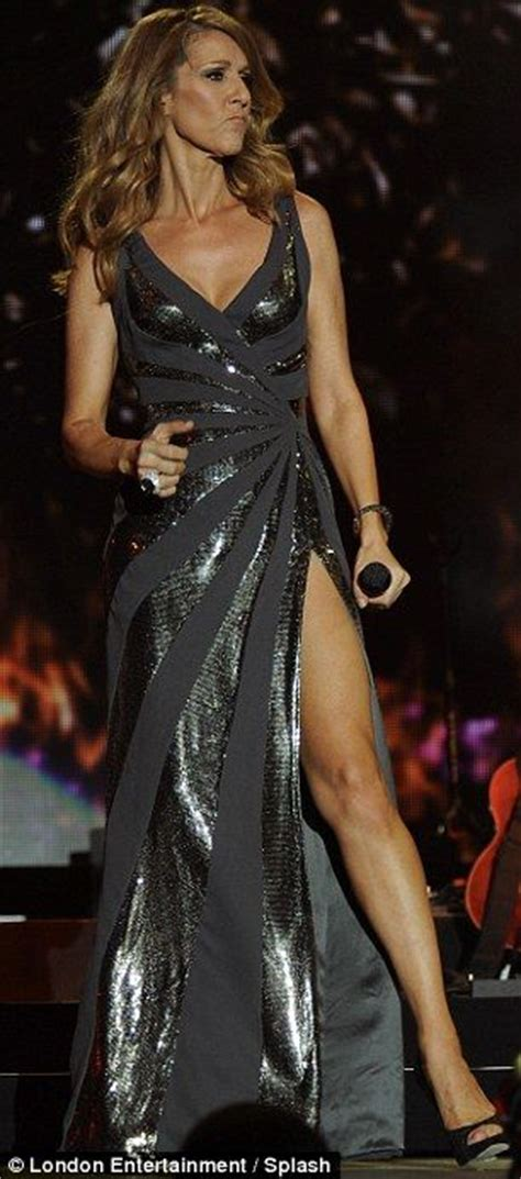 The thigh's the limit for Celine Dion who shows off her