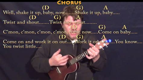 Twist and Shout (The Beatles) Ukulele Lesson Chord Chart