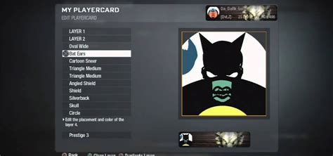 How to Make an epic Batman playercard emblem in the Black