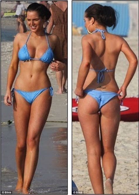 That's a far cry from the cobbles! Helen Flanagan shows